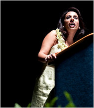 Brigitte Gabriel spoke to a Tea Party event in September. She says her views were shaped while growing up in Lebanon. Matt Nager for The New York Times