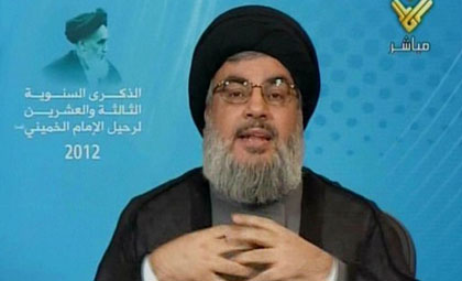 In the case of war, Hassan Nasrallah will remain hiding behind a screen, while the Lebanese, as always, will pay the price for Hezbollah�s decisions. (AFP photo)