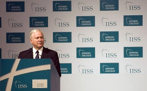 Defense Secretary Robert Gates in an address to the Manama Dialogue in Bahrain