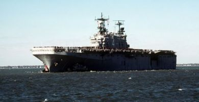 The USS Nassau (LHA-4) Amphibious Assault Ship. U.S. Department of Defense