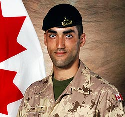 Lebanese Canadian, Military Trooper Marc Diab, 22, from the Royal Canadian Dragoons was killed in an IED attack today in Afghanistan. He was serving as a member of the 3rd Battalion, the Royal Canadian Regiment Battle Group based in Petawawa, Ont. The soldiers were conducting security operations in the mountainous region of Sha Wali Kot district — a known entry point for Taliban Terrorists — when the explosion occurred at about 1:15 p.m. local time on Sunday(Department of National Defence)